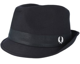 Classic Cotton Black Trilby - Fred Perry