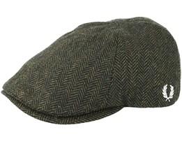 Herringbone Ivy Flat Cap - Fred Perry