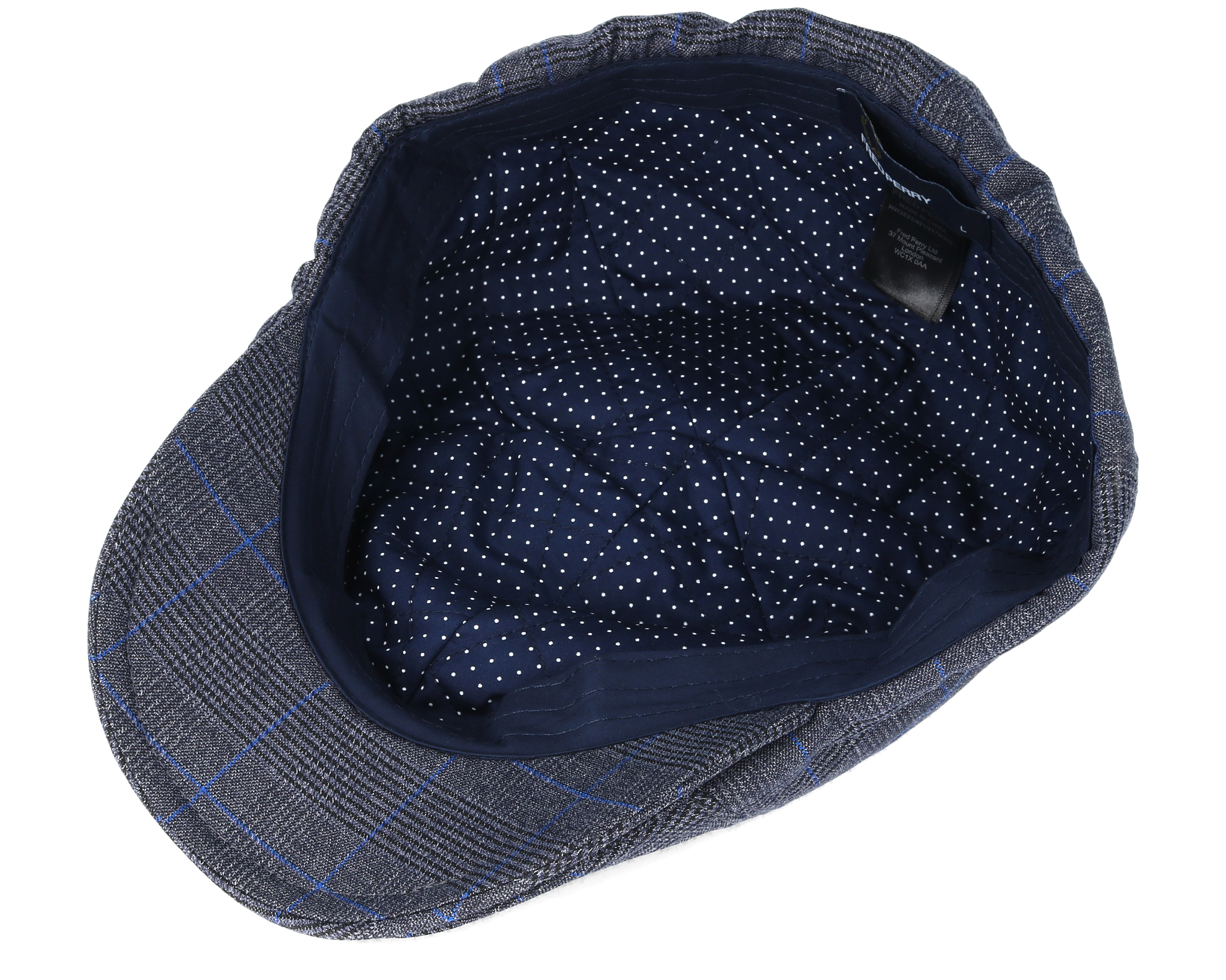 prince of wales charcoal flat cap fred perry caps. Black Bedroom Furniture Sets. Home Design Ideas
