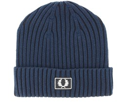 Stadium Cotton Navy/Black Beanie - Fred Perry