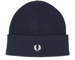Merino Wool Navy-Ecru Beanie - Fred Perry