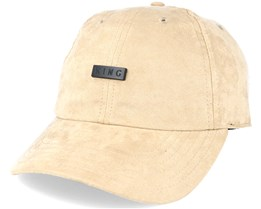 Luxe Noir Curved Peak Camel Beige Suede - King Apparel