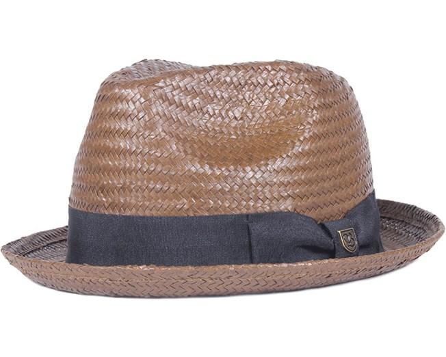 Castor Fedora Brown Black - Brixton - chapeau   Hatstore.fr 71290256c62