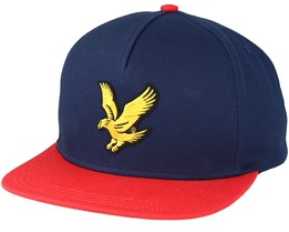 Colour Block Baseball Dark Navy Snapback - Lyle & Scott