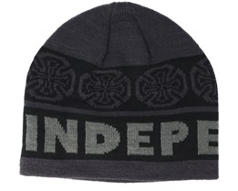 Woven Crosses Black/Grey Beanie - Independent