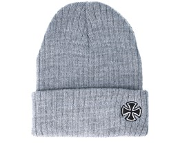 Cross Ribbed Heather Grey Beanie - Independent