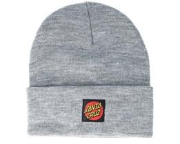 Classic Label Dot Grey Beanie - Santa Cruz