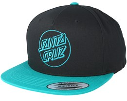 Outline Dot Back Black/Baltic Blue Snapback - Santa Cruz