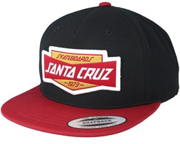 Unit Black/Blood Snapback - Santa Cruz