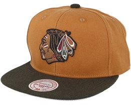 Chicago Blackhawks Signature Tan Snapback - Mitchell & Ness
