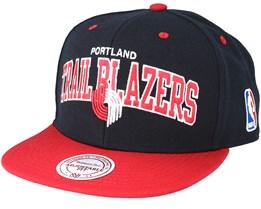 Portland Trail Blazers 2 Tone Team Arch Snapback - Mitchell & Ness