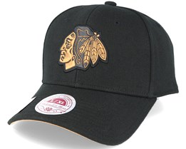 Chicago Blackhawks TKO Twist Black Flexfit - Mitchell & Ness