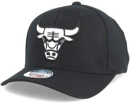 Chicago Bulls Black & White 110 Adjustable - Mitchell & Ness