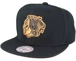 Chicago Blackhawks TKO Twist Black Snapback - Mitchell & Ness