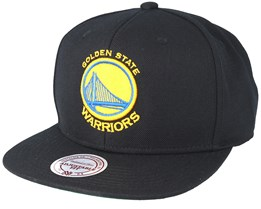 Golden State Warriors Wool Solid 2 Black Snapback - Mitchell & Ness