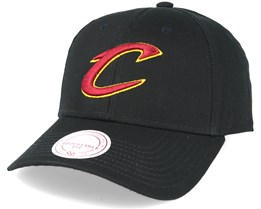 Cleveland Cavaliers Low Pro Strapback Black Adjustable - Mitchell & Ness