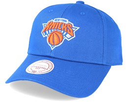 New York Knicks Team Logo Low Pro Strapback Royal Blue Adjustable - Mitchell & Ness