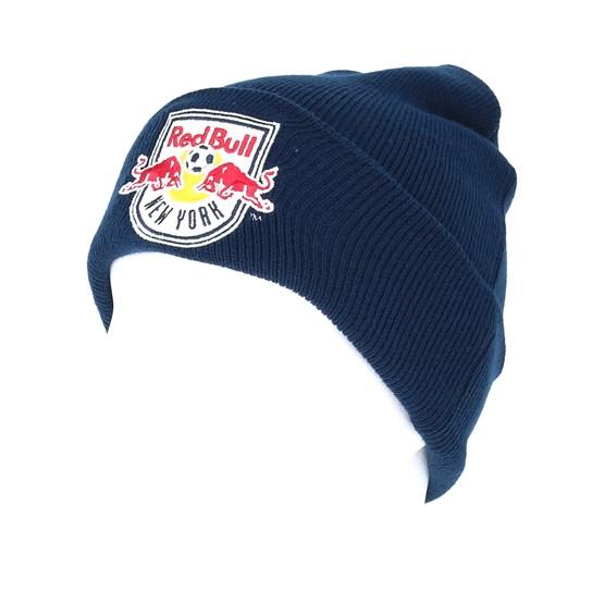 0d70b6bb5c9 New York Red Bulls Team Logo Knit Navy Cuff - Mitchell   Ness beanies