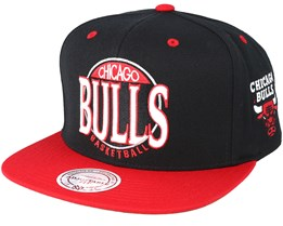 Chicago Bulls On The Spot Black Snapback - Mitchell & Ness