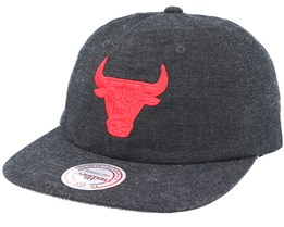 Chicago Bulls Cotton Melange Clip Strapback - Mitchell & Ness