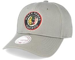 Chicago Blackhawks Low Pro Strapback Olive Adjustable - Mitchell & Ness