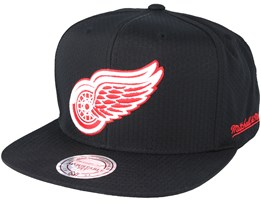 Detroit Red Wings Riptop Honeycomb Black Snapback - Mitchell & Ness