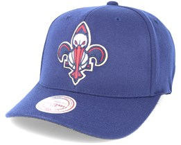 New Orleans Pelicans Team Logo Flexfit 110 Navy Adjustable - Mitchell & Ness