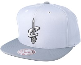 Cleveland Cavaliers 2T Plus Series Grey Snapback - Mitchell & Ness