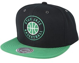 Utah Jazz  Black/Green Snapback - Mitchell & Ness