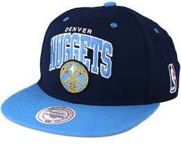 Denver Nuggets Team Arch Navy Snapback - Mitchell & Ness