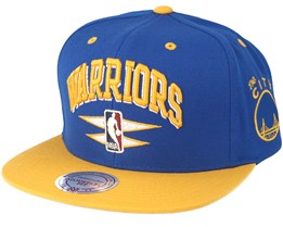 Golden State Warriors Double Diamond Navy Snapback - Mitchell & Ness