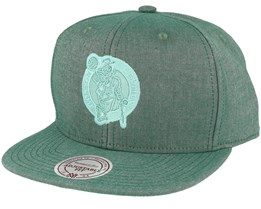 Boston Celtics Italian Washed Olive Snapback - Mitchell & Ness
