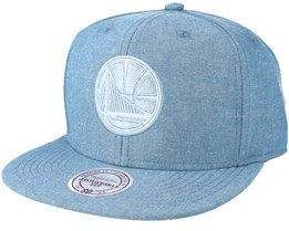 Golden State Warriors Italian Washed Blue Snapback - Mitchell & Ness