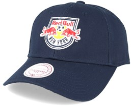 New York Red Bulls Team Logo Low Pro Strapback Navy Adjustable - Mitchell & Ness