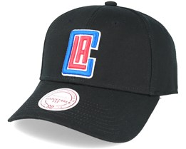 LA Clippers Low Pro Strapback Black Adjustable - Mitchell & Ness