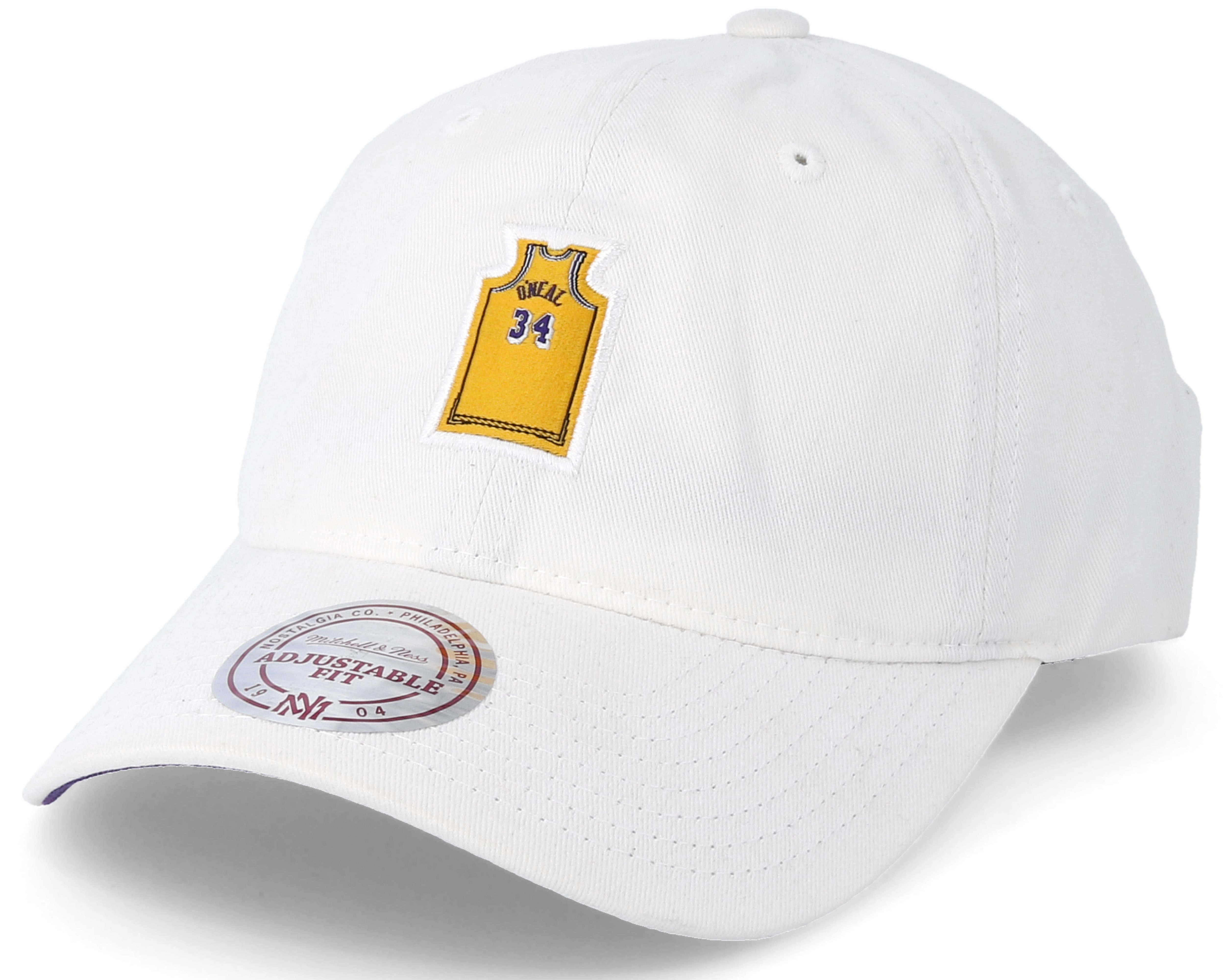 Los Angeles Lakers Small Jersey Dad Hat White Adjustable ...
