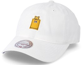 Los Angeles Lakers Small Jersey Dad Hat White Adjustable - Mitchell & Ness