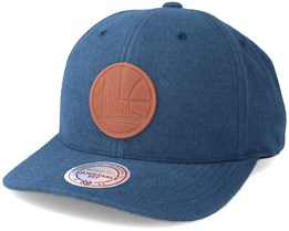 Golden State Warriors Gum Navy Snapback - Mitchell & Ness
