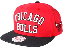 Chicago Bulls Wordmark Red Snapback - Mitchell & Ness