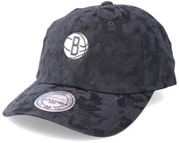 Brooklyn Nets Tonal 110 Camo Charcoal Adjustable - Mitchell & Ness