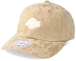 Los Angeles Lakers Tonal 110 Camo Khaki Adjustable - Mitchell & Ness