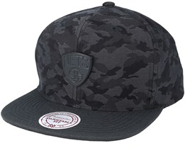 Brooklyn Nets Combat Camo Black/Charcoal Snapback - Mitchell & Ness