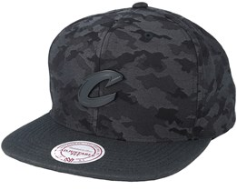 Cleveland Cavaliers Combat Camo Black/Charcoal Snapback - Mitchell & Ness