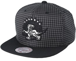 Toronto Raptors Shell Black Snapback - Mitchell & Ness