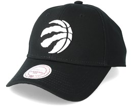 Toronto Raptors Team Logo Low Pro Black Adjustable - Mitchell & Ness