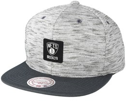 Brooklyn Nets Brushed Melange Snapback - Mitchell & Ness