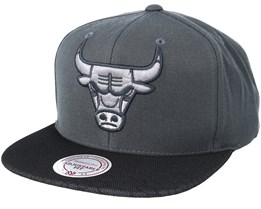 Chicago Bulls Hologram Mesh Stop On Dime Charcoal Snapback - Mitchell & Ness
