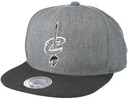 Cleveland Cavaliers Heather Reflective Grey Snapback - Mitchell & Ness