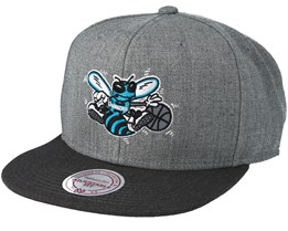 Charlotte Hornets Heather Reflective Grey Snapback - Mitchell & Ness