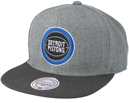Detroit Pistons Heather Reflective Grey Snapback - Mitchell & Ness